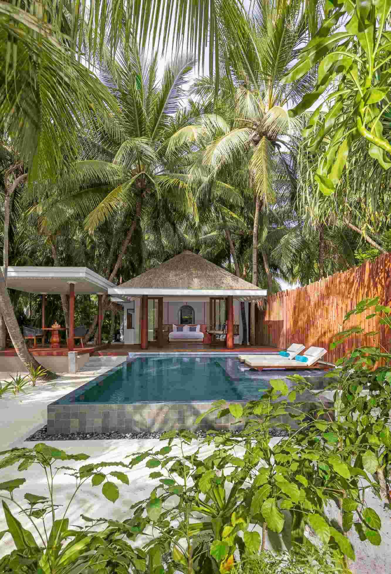 Three bedroom pool villa at Anantara Kihavah