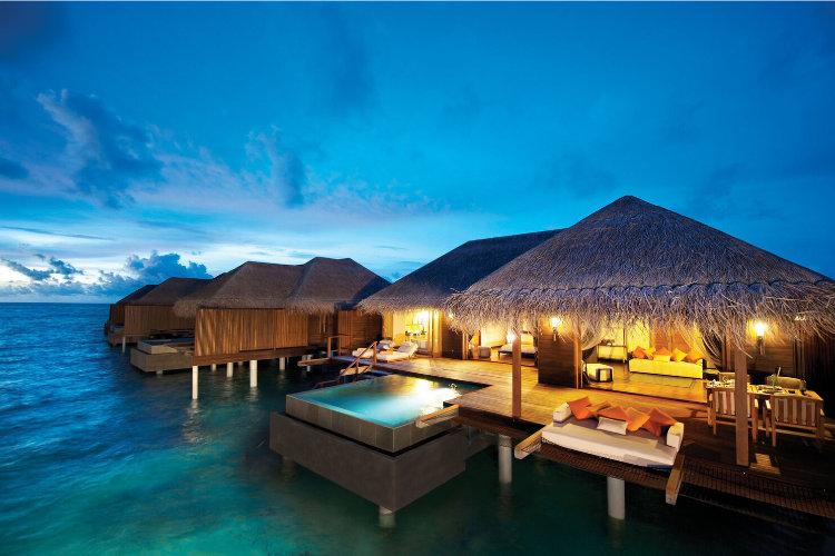 Sunset at Ayada Maldives