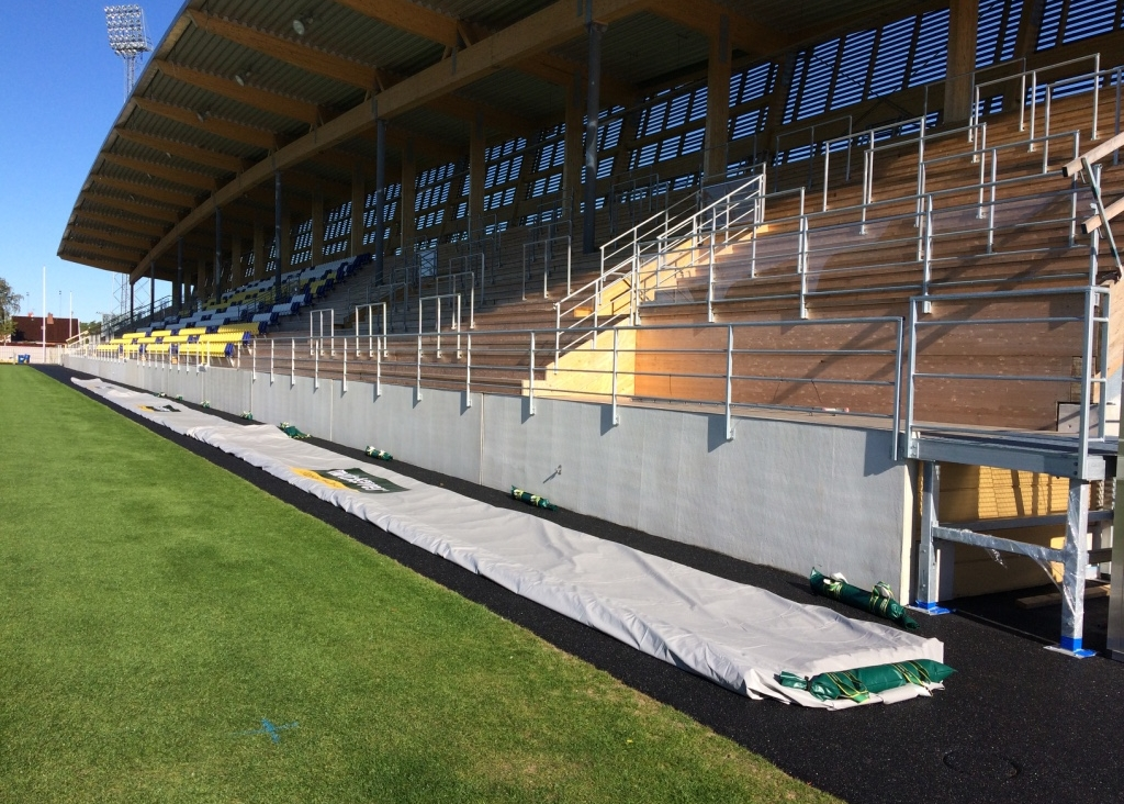 Matchsaver Air Roller Covers Stored Pitch side