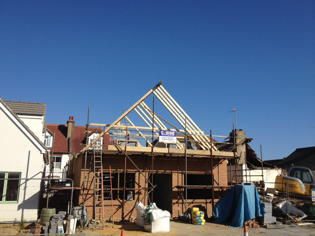 Hand cut roofing, Hove
