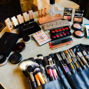 Makeup party! How exciting. (Photo courtesy of Mahum Butt at Mahummakeup).