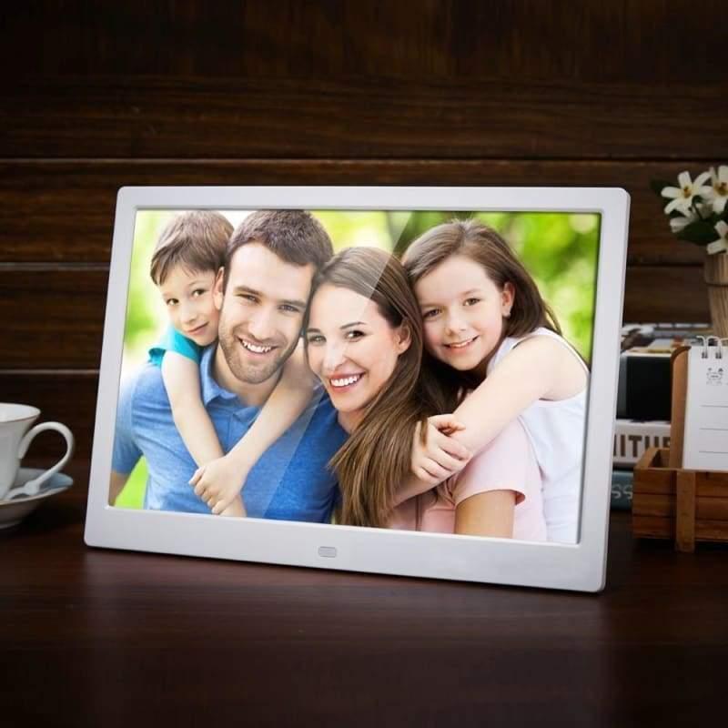 12-Inch Digital Photo Frame - White / EU Plug - Digital Photo Frames