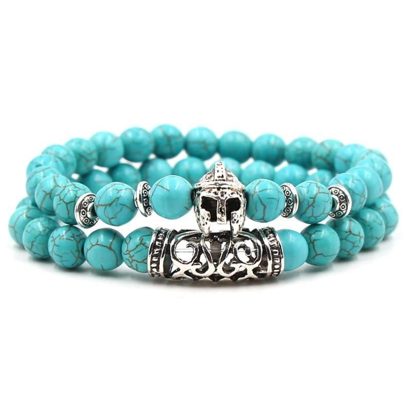 2PCS/Set Silver Color Buddha Bracelet - Strand Bracelets