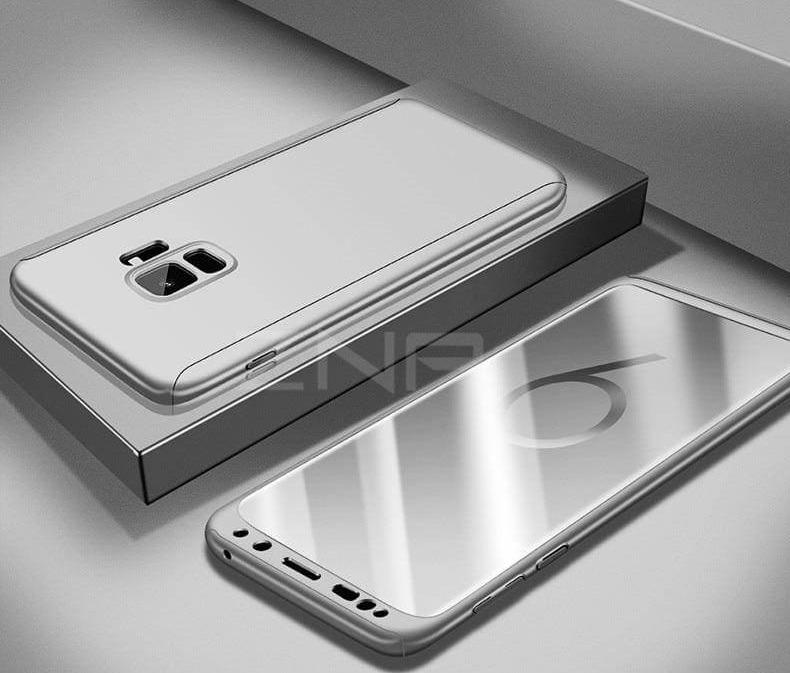 360 Degree Full Cover Luxury Phone Case For Samsung Galaxy - Silver / S7 - Fitted Cases