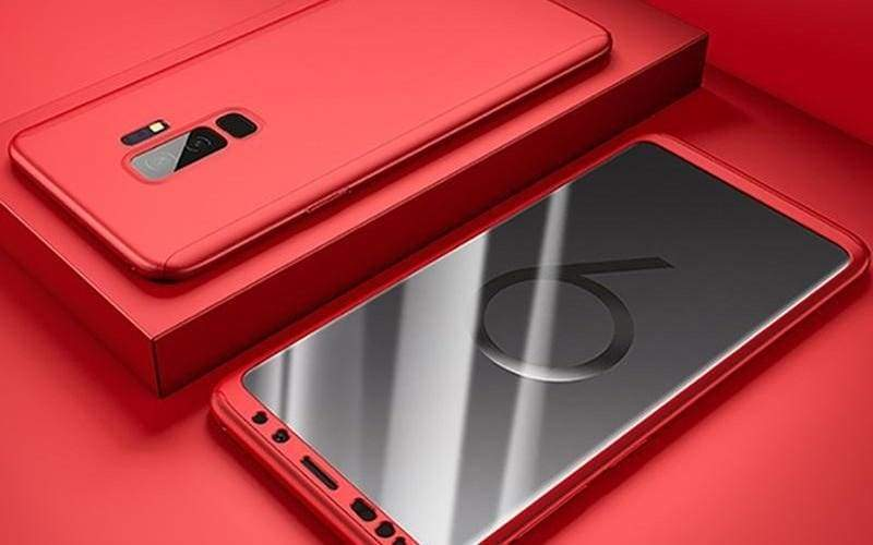 360 Degree Full Cover Luxury Phone Case For Samsung Galaxy - Galaxy S10 / Red - Fitted Cases