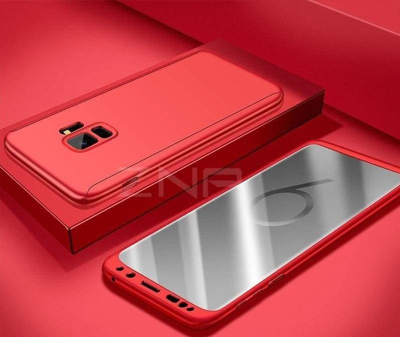 360 Degree Full Cover Luxury Phone Case For Samsung Galaxy - Red / S7 - Fitted Cases