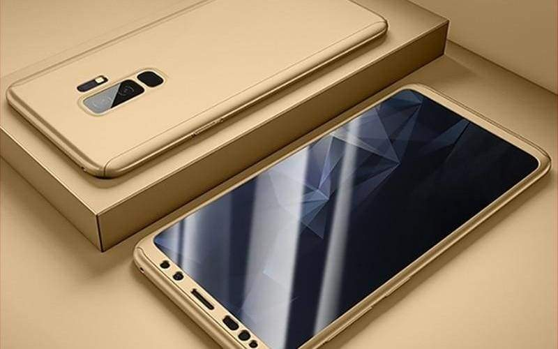 360 Degree Full Cover Luxury Phone Case For Samsung Galaxy - Galaxy S9 / Gold - Fitted Cases