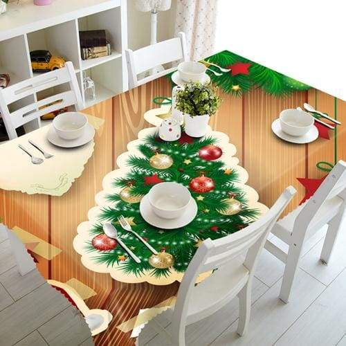 3D Christmas Tablecloth Just For You - A / 90 X 150cm - Tablecloths
