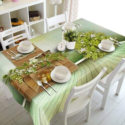 3D Christmas Tablecloth Just For You - D / 140 X 180cm - Tablecloths