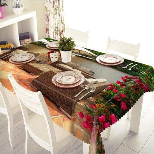 3D Christmas Tablecloth Just For You - E / 90 X 150cm - Tablecloths