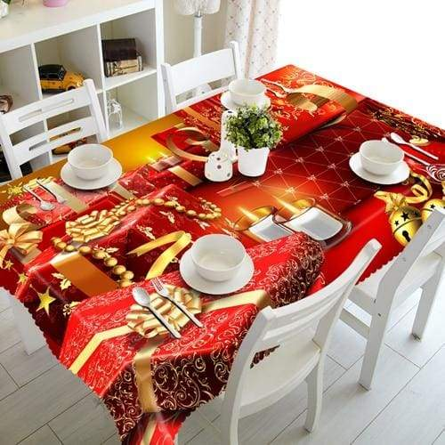 3D Christmas Tablecloth Just For You - I / 90 X 150cm - Tablecloths