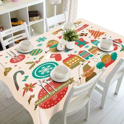 3D Christmas Tablecloth Just For You - J / 140 X 180cm - Tablecloths