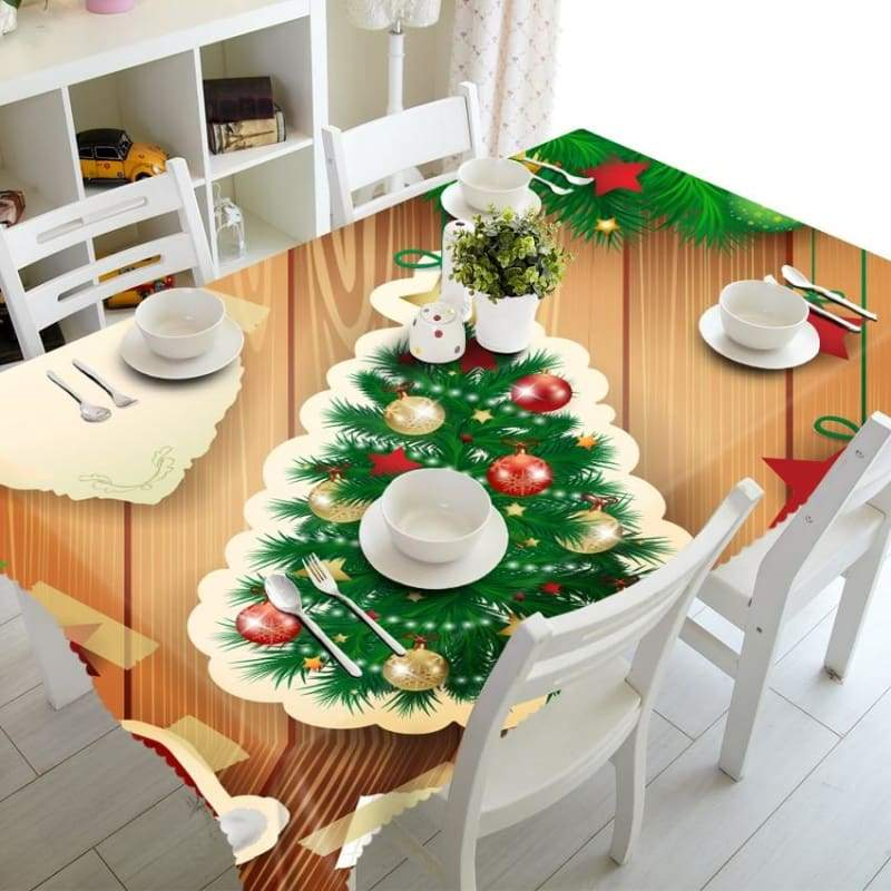3D Christmas Tablecloth Just For You - Tablecloths