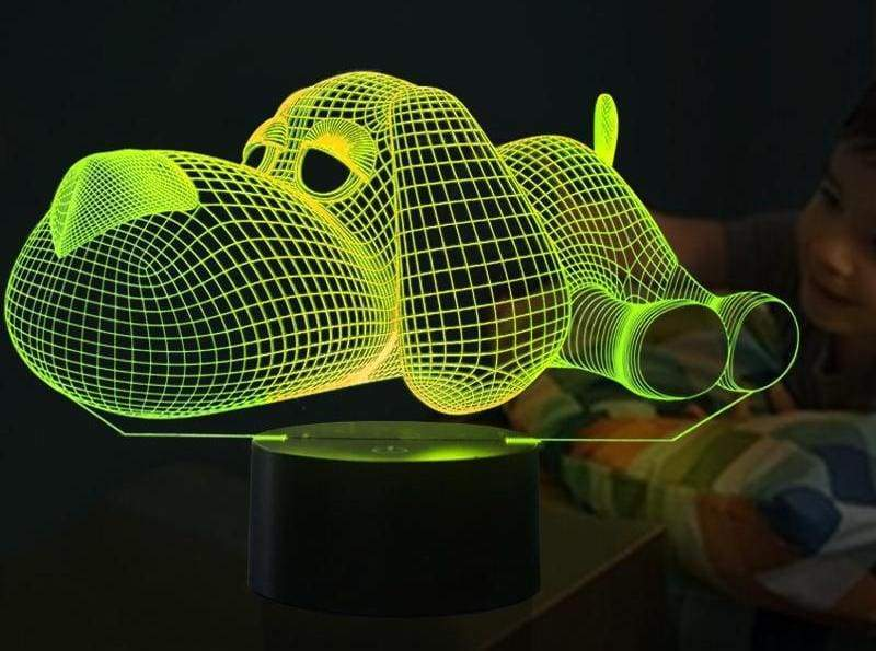 3D LED Illusion Dog Lamp - LED Night Lights
