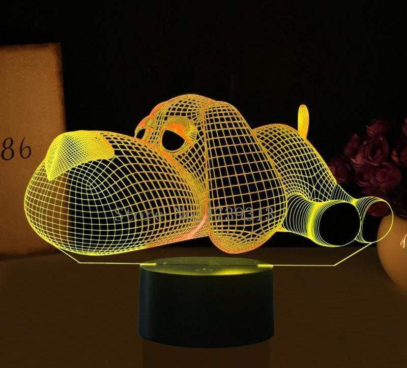 3D LED Illusion Dog Lamp - LED Night Lights