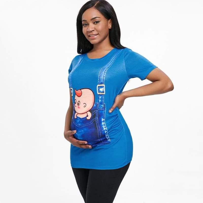 3D Print Pregnant Maternity Tee [ maternity dresses ] - T-Shirts
