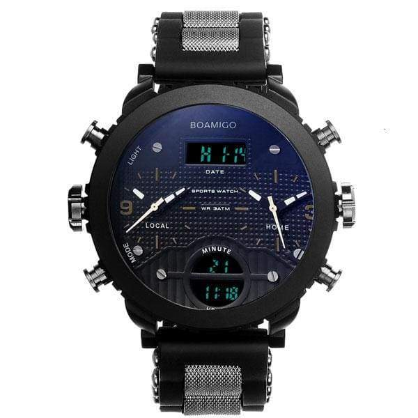 3 Time Zone Military Sports Watches - gold - Sports Watches