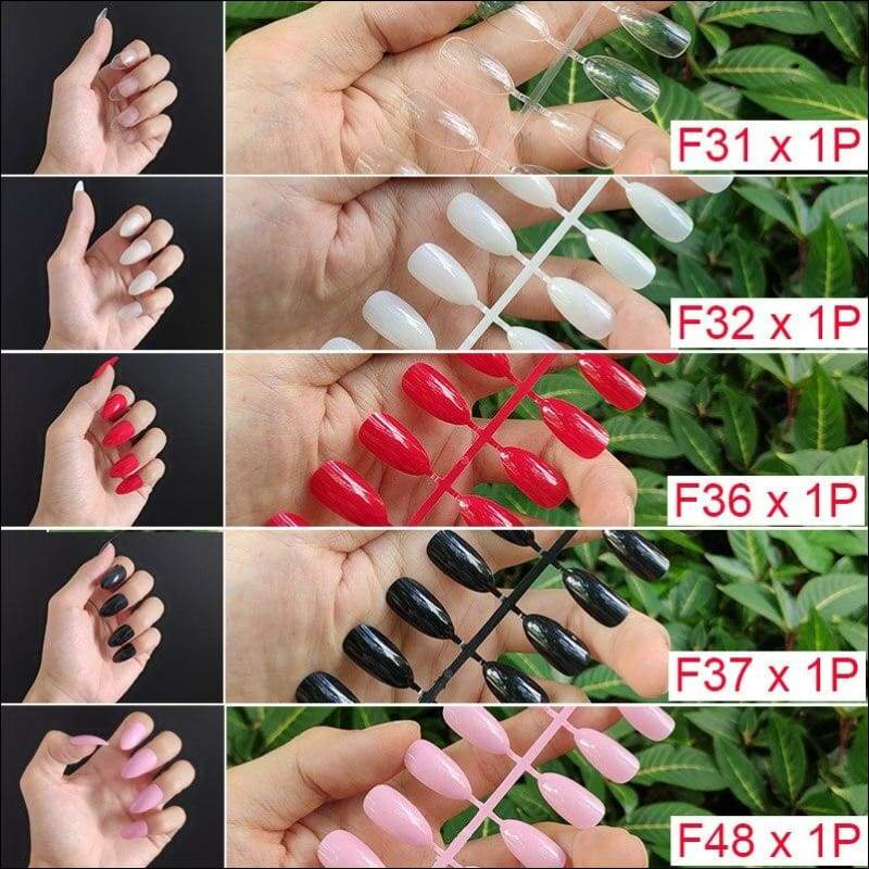 432 pcs/pack Mixed 18 Colors Full Short Round Nail Tips - F1-5PCs Mix Colors - False Nails
