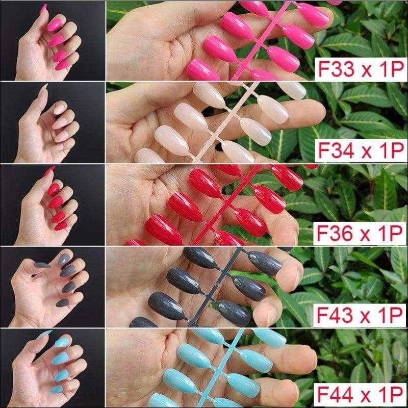 432 pcs/pack Mixed 18 Colors Full Short Round Nail Tips - F2-5PCs Mix Colors - False Nails