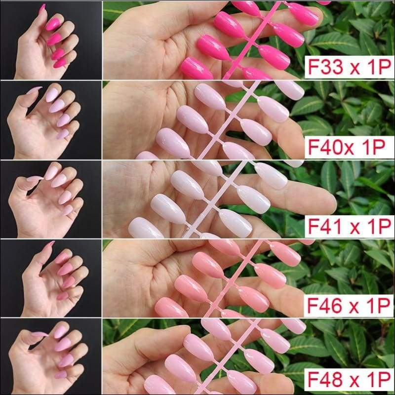 432 pcs/pack Mixed 18 Colors Full Short Round Nail Tips - F3-5PCs Mix Colors - False Nails
