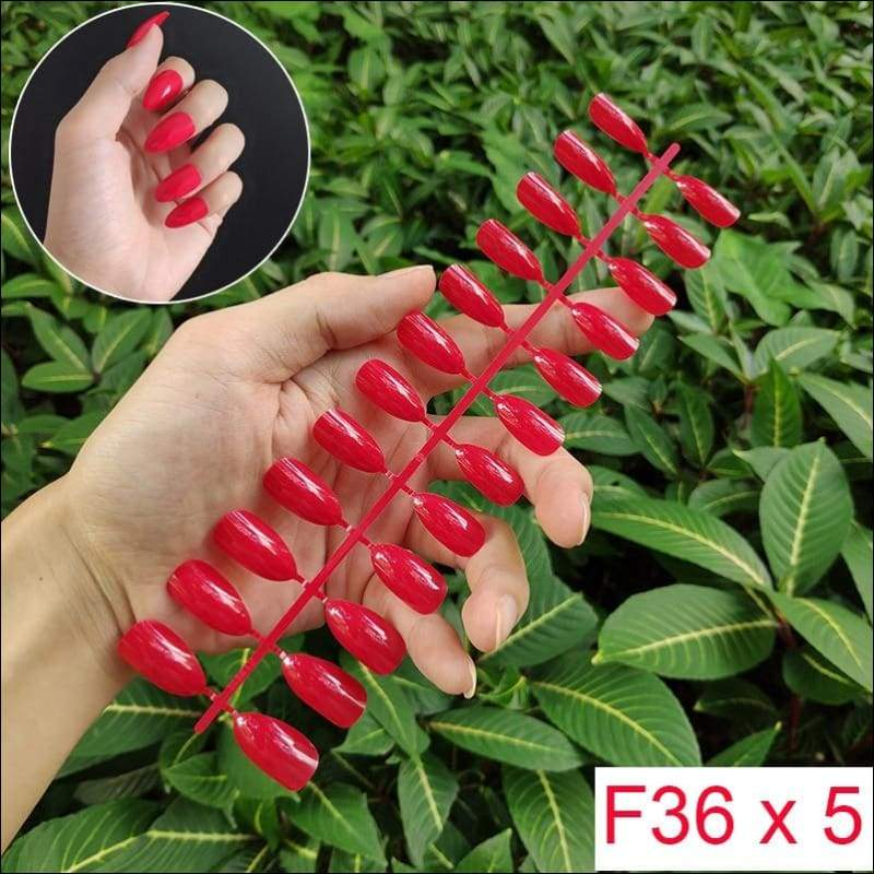 432 pcs/pack Mixed 18 Colors Full Short Round Nail Tips - F36 X 5PCs - False Nails