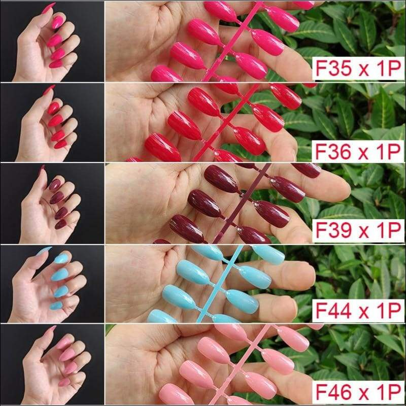 432 pcs/pack Mixed 18 Colors Full Short Round Nail Tips - F4-5PCs Mix Colors - False Nails