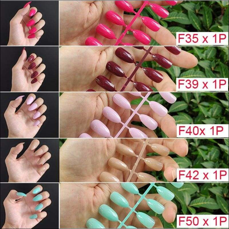 432 pcs/pack Mixed 18 Colors Full Short Round Nail Tips - F6-5PCs Mix Colors - False Nails