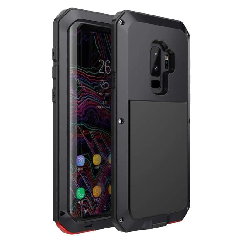 5D Curved Protective Luxury doom Armor Case Metal Samsung - Black / For S8 / add Full Glue Glass - Fitted Cases