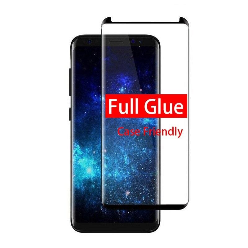 5D Curved Protective Luxury doom Armor Case Metal Samsung - Black / For S8 Plus / add Full Glue Glass - Fitted Cases