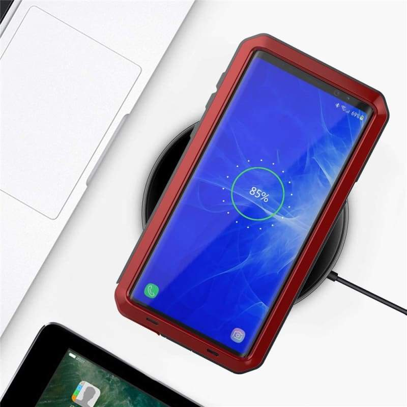 5D Curved Protective Luxury doom Armor Case Metal Samsung - Fitted Cases