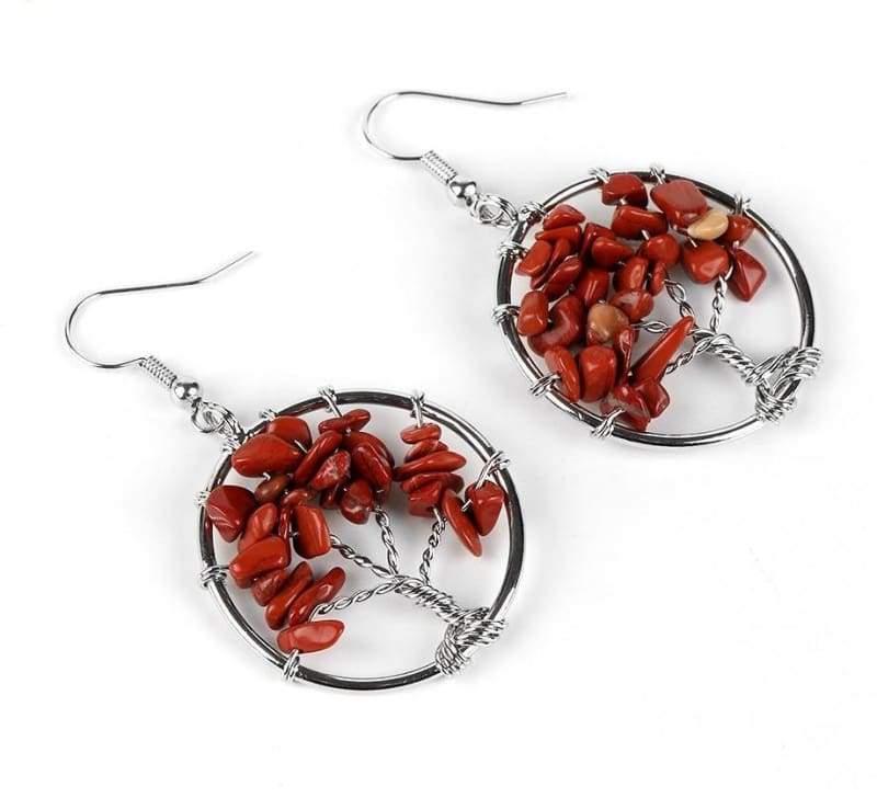 7 Chakra Healing Crystal Dangle - Drop Earrings