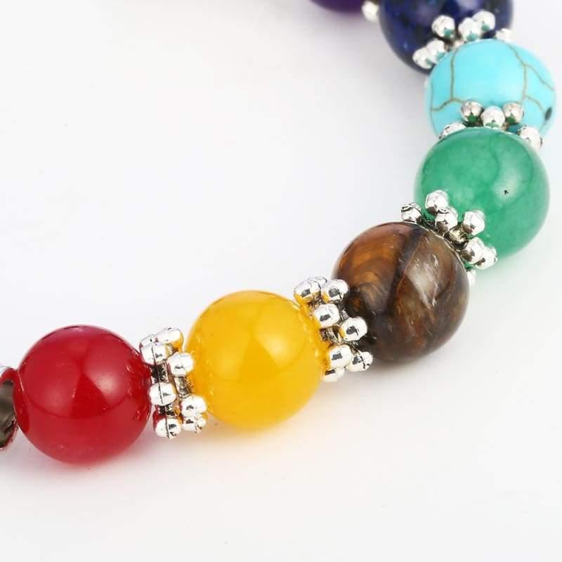 7 Chakra Healing Heart Charm Bracelets - Charm Bracelets