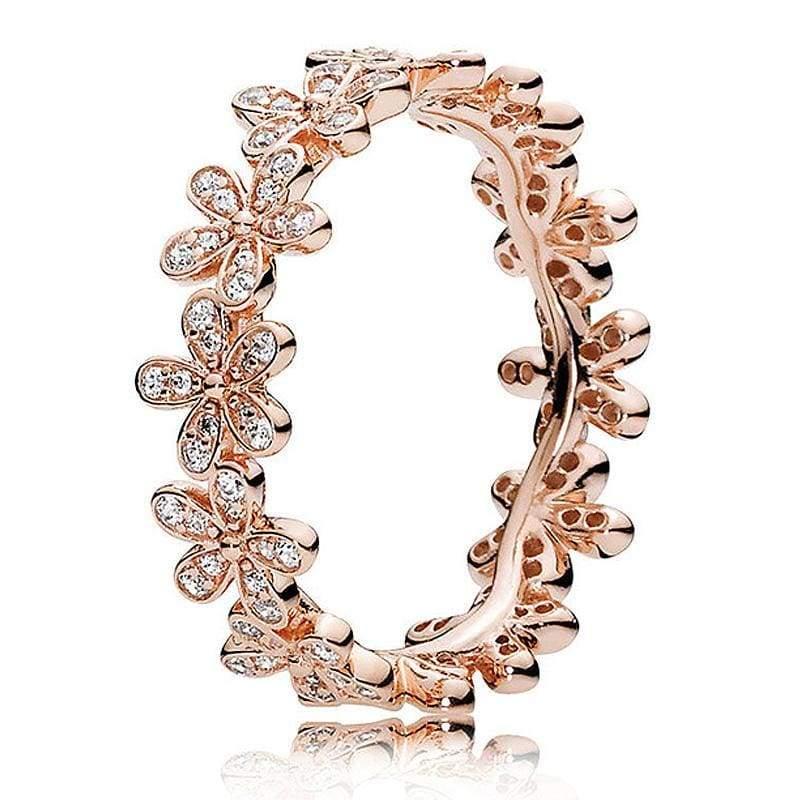 925 Sterling Silver Rose Gold Timeless Elegant Rings - 6 / 10 - Rings