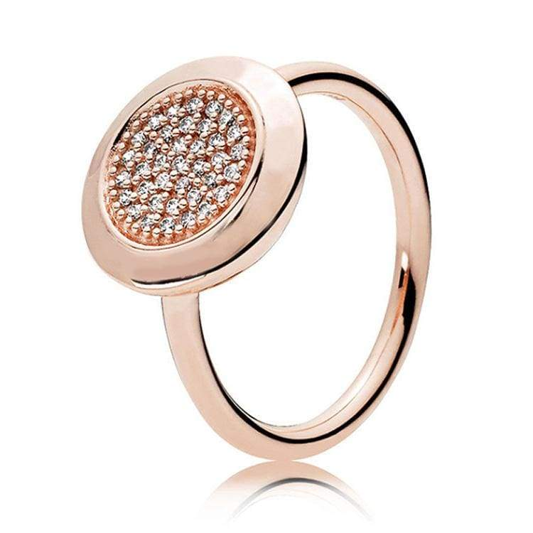 925 Sterling Silver Rose Gold Timeless Elegant Rings - 6 / 11 - Rings