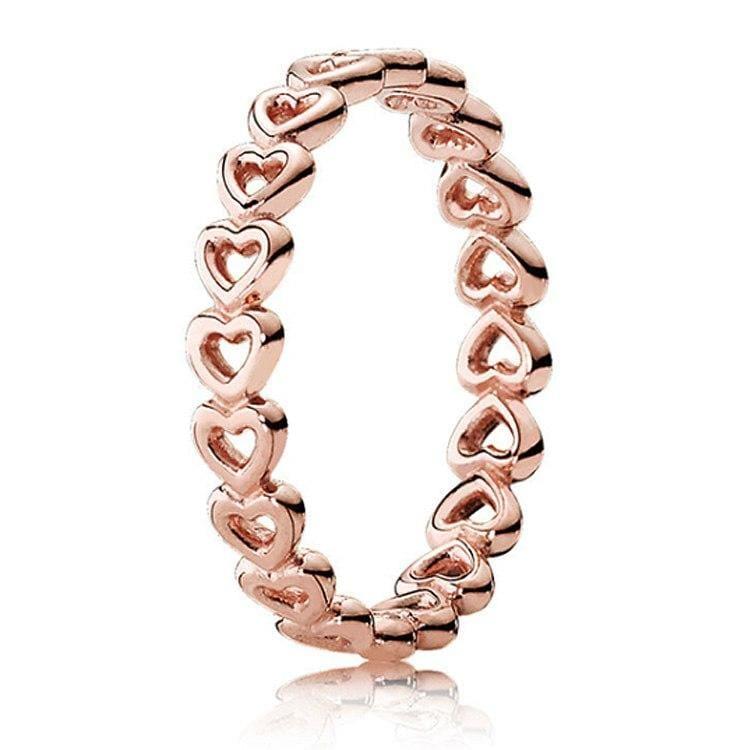 925 Sterling Silver Rose Gold Timeless Elegant Rings - 6 / 13 - Rings