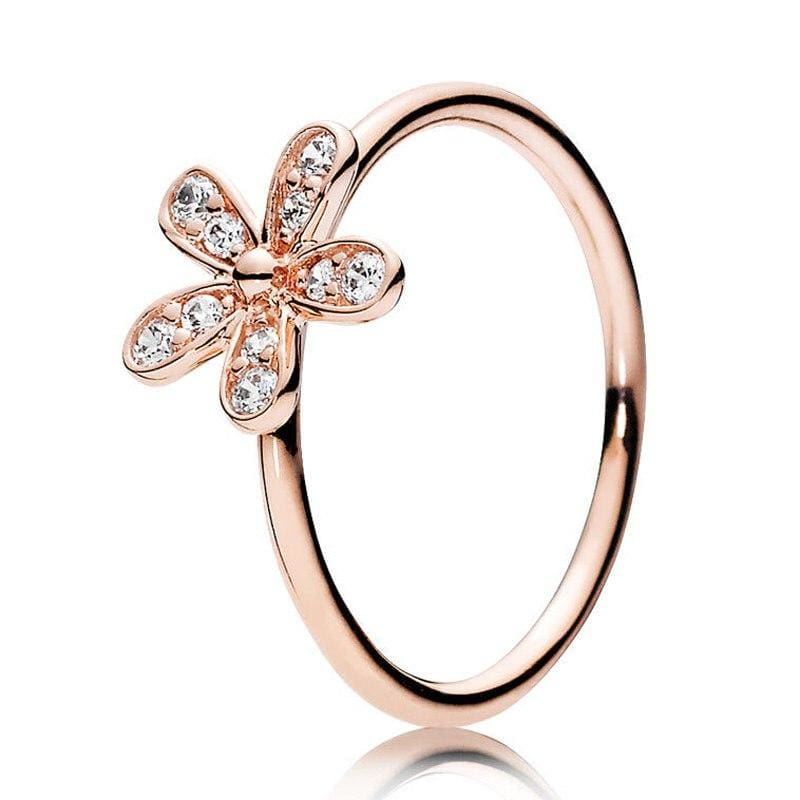 925 Sterling Silver Rose Gold Timeless Elegant Rings - 6 / 2 - Rings