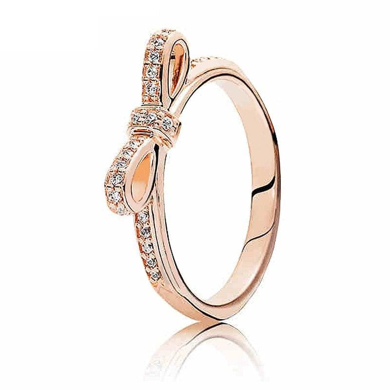 925 Sterling Silver Rose Gold Timeless Elegant Rings - 6 / 3 - Rings