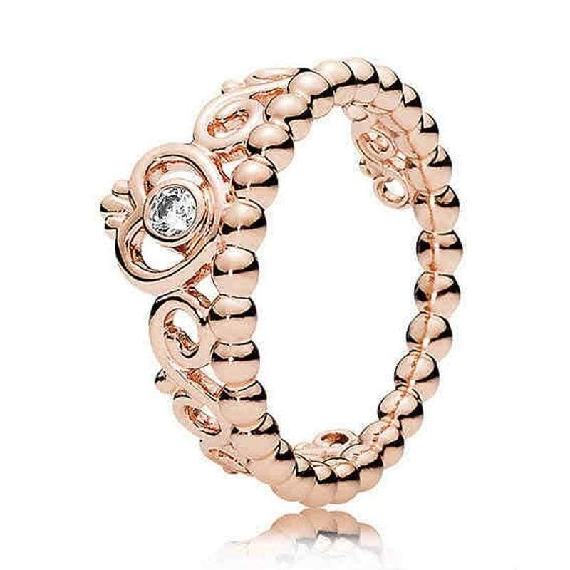 925 Sterling Silver Rose Gold Timeless Elegant Rings - Rings