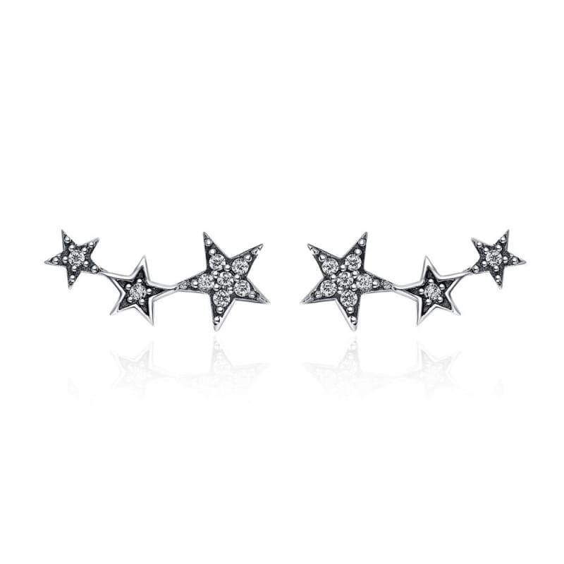 925 Sterling Silver Star Stud Earrings - SCE175 1 - Stud Earrings