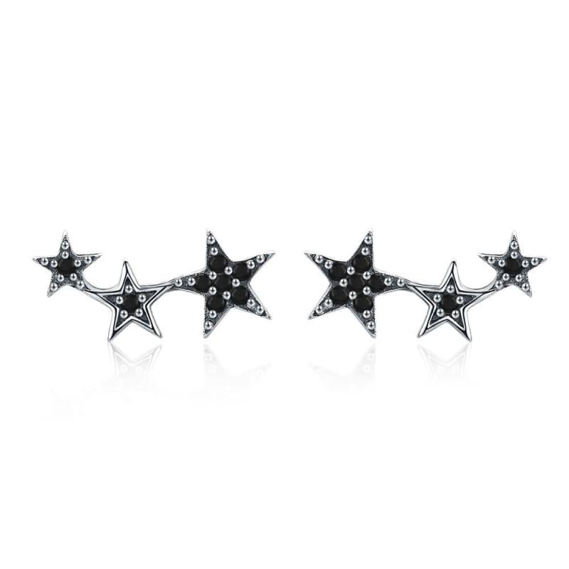 925 Sterling Silver Star Stud Earrings - SCE291 3 - Stud Earrings
