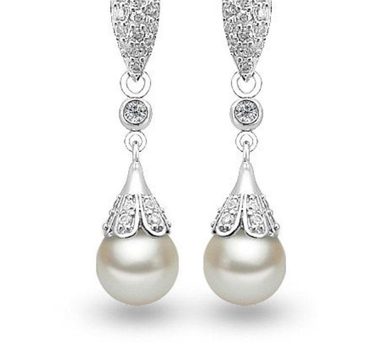 925 Sterling Silver Teardrop Earrings - Drop Earrings