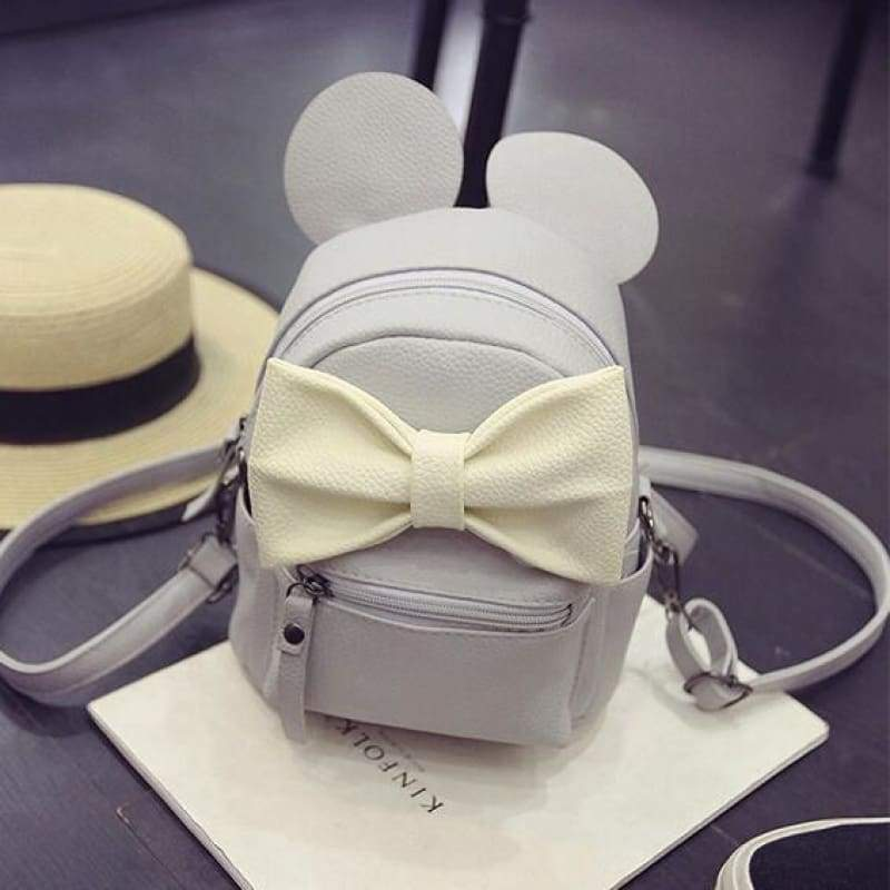 Adorable Minnie Backpack For Girls - beige bow - Backpacks