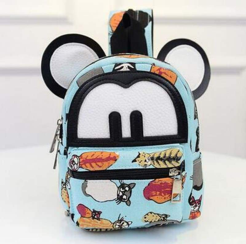 Adorable Minnie Backpack For Girls - Canvas Mickey 2 - Backpacks