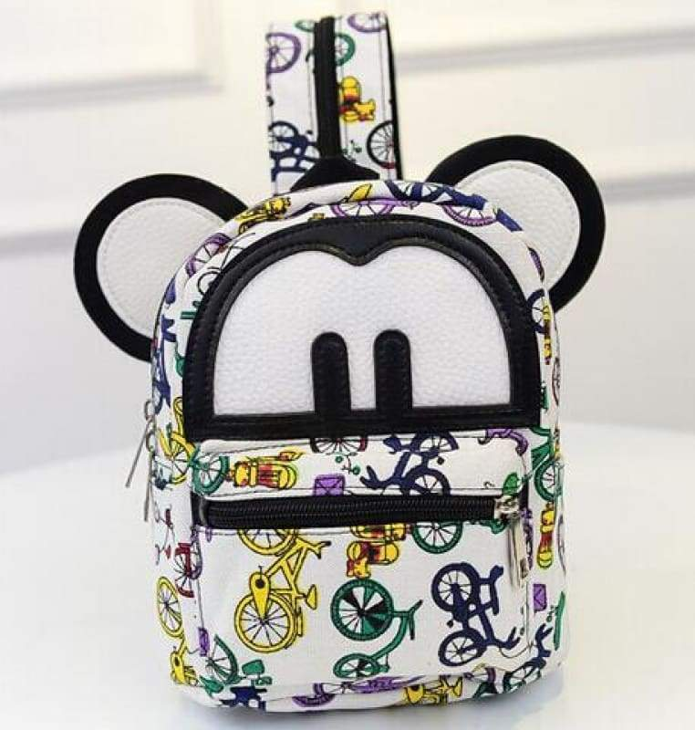 Adorable Minnie Backpack For Girls - Canvas Mickey 3 - Backpacks