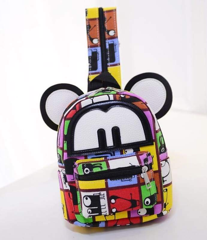 Adorable Minnie Backpack For Girls - Canvas Mickey 5 - Backpacks