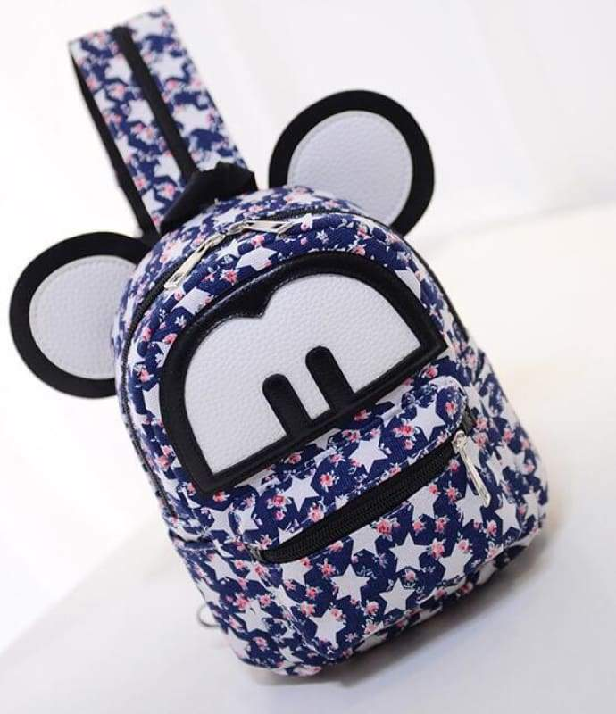 Adorable Minnie Backpack For Girls - Canvas Mickey 6 - Backpacks