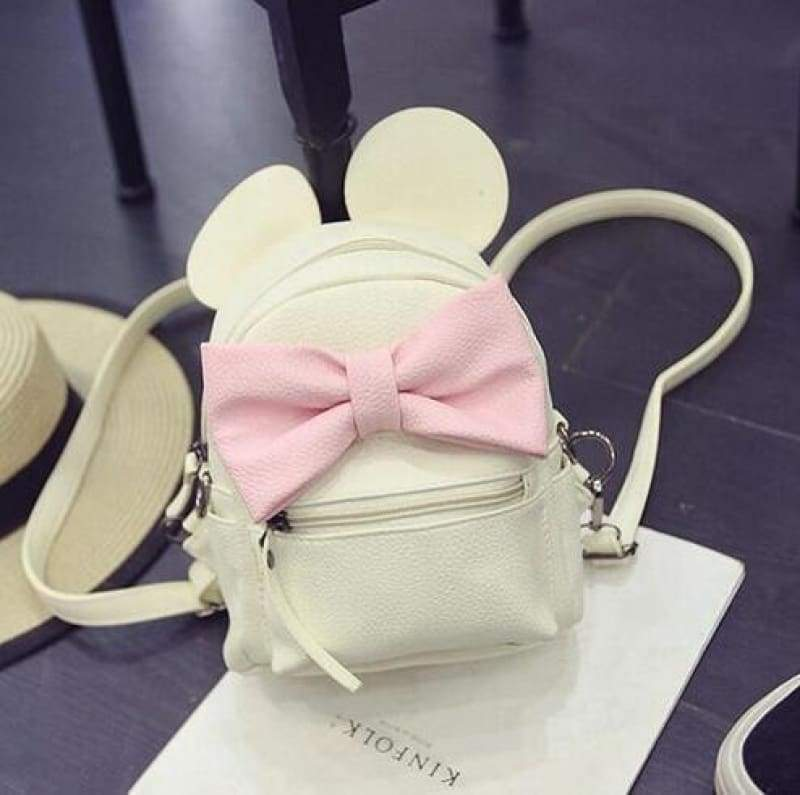 Adorable Minnie Backpack For Girls - milk white - Backpacks
