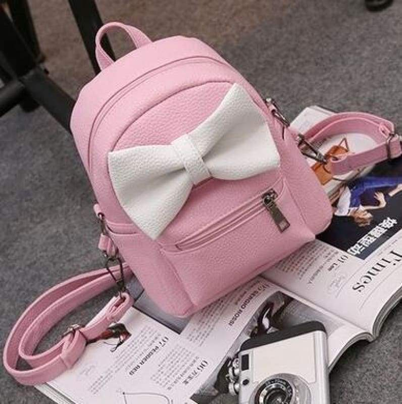 Adorable Minnie Backpack For Girls - No ears Style 3 Pink - Backpacks