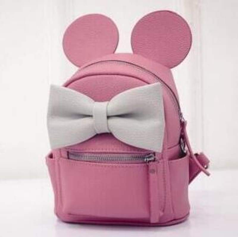 Adorable Minnie Backpack For Girls - purple red - Backpacks
