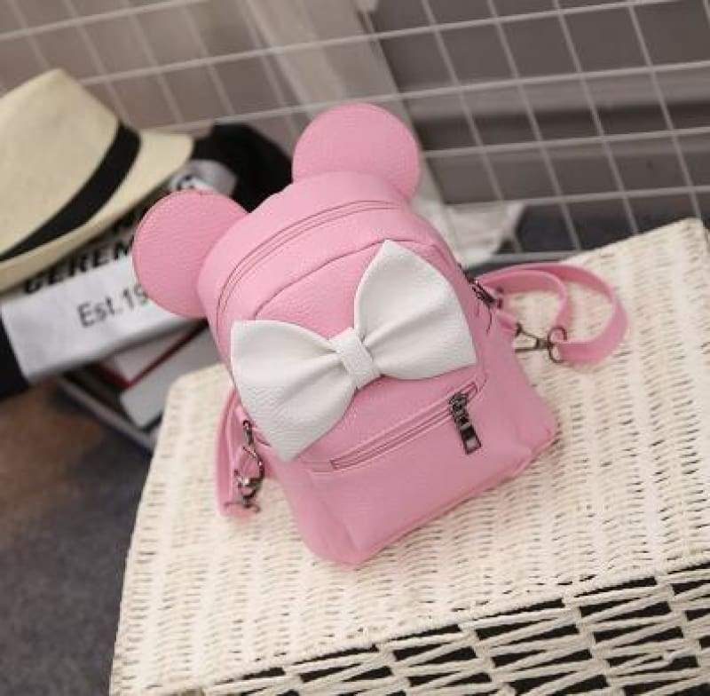 Adorable Minnie Backpack For Girls - Style 3 Pink - Backpacks